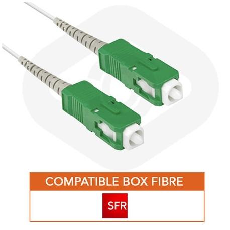 Cable fibre optique pour box fibre SFR