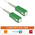 Cable fibre optique pour box fibre SC-APC SC-APC