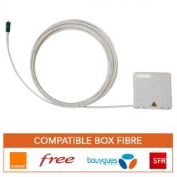Rallonge fibre optique avec PTO pour box fibre