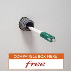 Cable fibre optique souple et resistant pour free