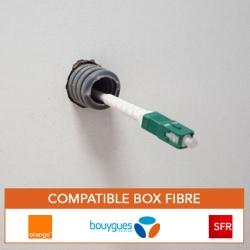 Cable fibre optique souple et resistant pour box orange, bouygues, SFR