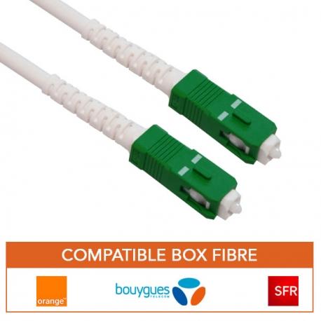 Cable fibre optique renforce pour box orange, bouygues, SFR