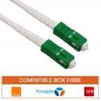 Cable fibre optique renforcé haute qualité box orange, bouygues, SFR