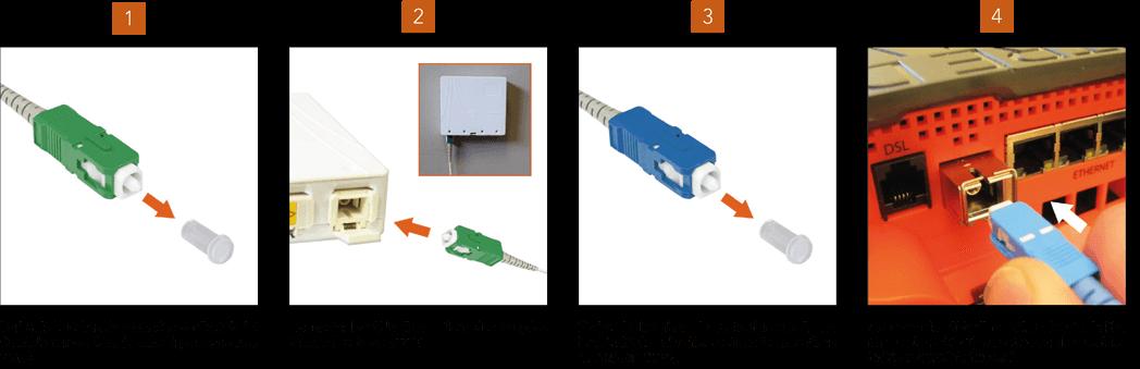 Tutoriel connecter cable fibre optique free freebox